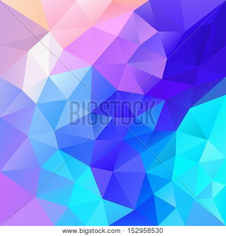 vector abstract irregular polygon background with a triangular pattern in vibrant blue pink and purple multi colors