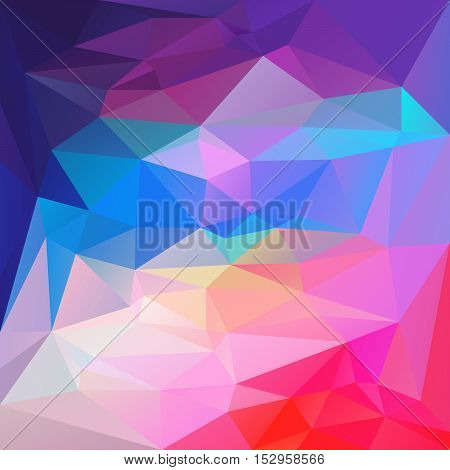 vector abstract irregular polygon background with a triangular pattern in vibrant blue purple pastel and hot pink colors