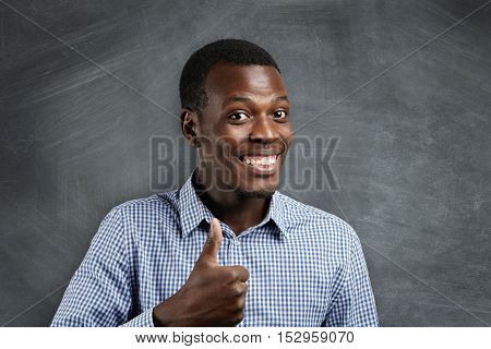 Positive Human Emotions, Expressions, Feelings And Attitude. Happy And Satisfied African Businessman