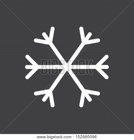 Car winter mode icon. Car dashboard icon. Vector illustration