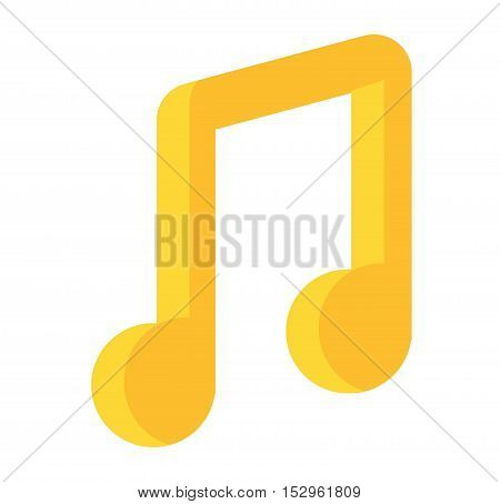 Music note vector icon silhouette graphic sign
