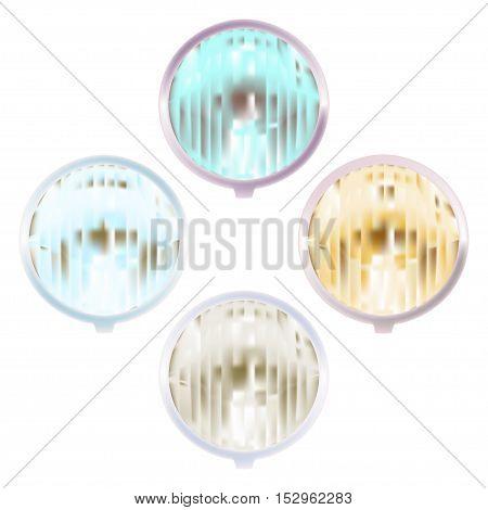lights lamp illuminator plafond electric isolated vector