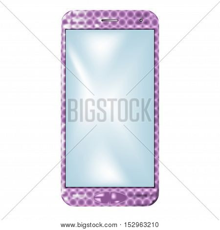 mobile phone smartphone with blank screen isolated vector