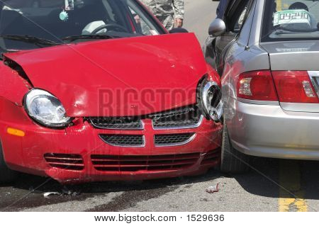 Two Car Crash Closeup