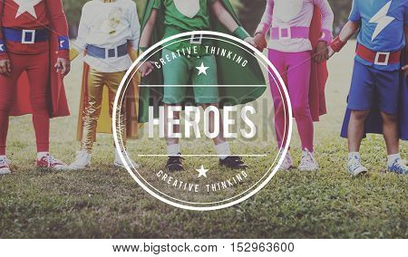 Heroes Idol Superhero Heroic Protector Heart Concept