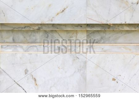 The background of white marble wall. texture