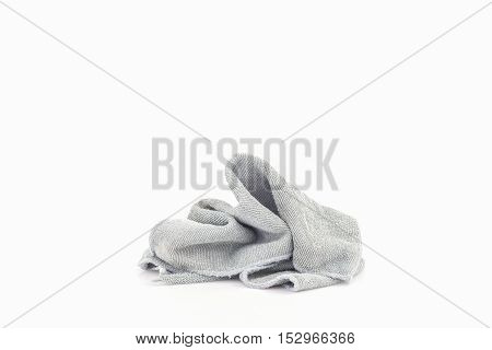 pile of dirty laundry cloth Isolated on white