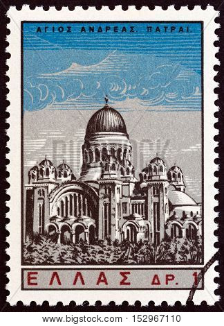 GREECE - CIRCA 1965: A stamp printed in Greece from the
