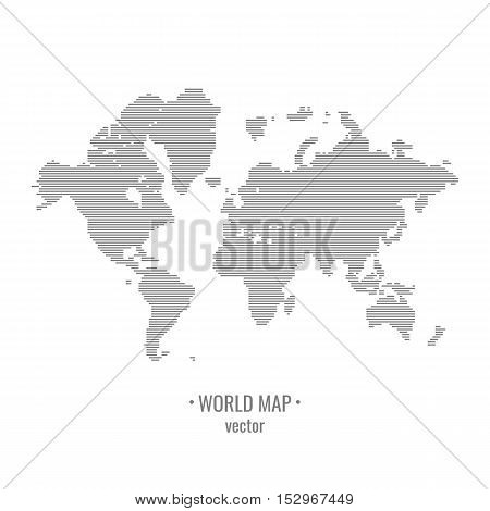 Touch the world map. world map. Drawing all the continentsVector illustration.