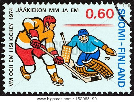 FINLAND - CIRCA 1974: A stamp printed in Finland from the