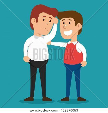 men problem solving psychology design vector illustration eps 10