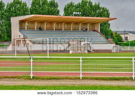 Les Mureaux France - june 21 2016 : the stadium