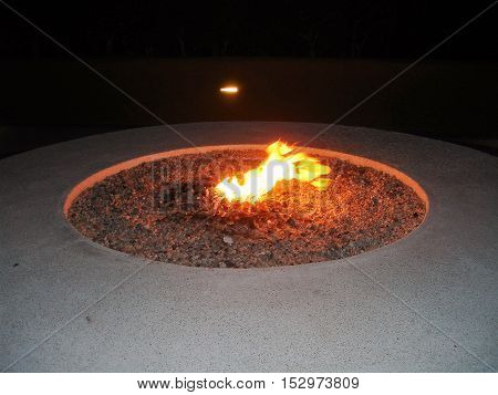 Fire pit as seen in Los Cabos hotel Mexico