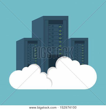 data center computer clouding vector illustration eps 10