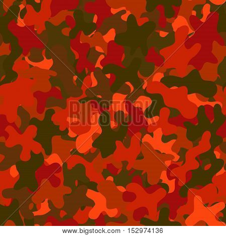 abstract vector chaotic spotted seamless pattern - red and green
