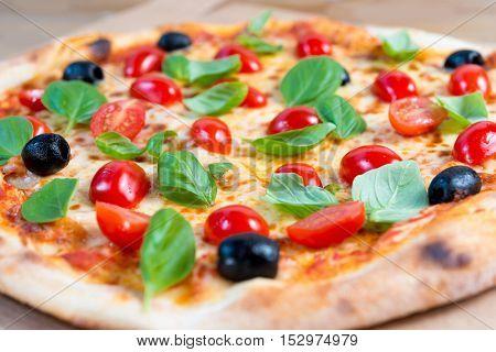 tasty pizza on a the table