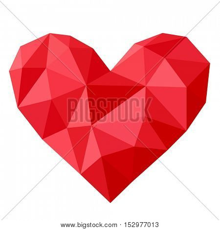 Red heart vector icon