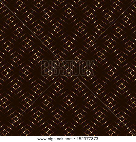 Diamond honey yellow brown golden grid seamless vector background
