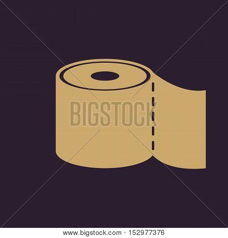 The toilet paper icon. Bathroom symbol. Flat Vector illustration