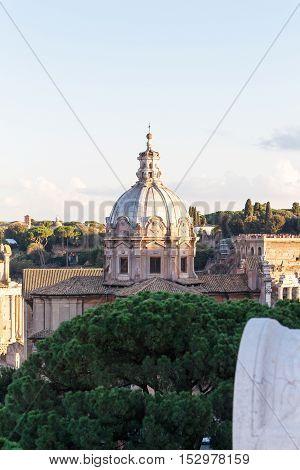 Domus church in Roma near Trajan column, Italy