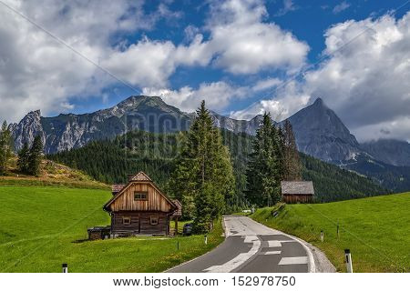 Landscape of Alps mountains in Styria Austria