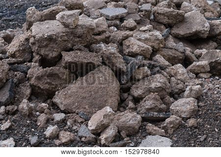 Close up of a stones. A lot of stones