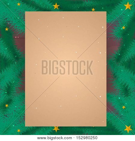 Merry Christmas And Happy New Year. Old Vintage Paper. Vintage Christmas Background, Wood Texture, V