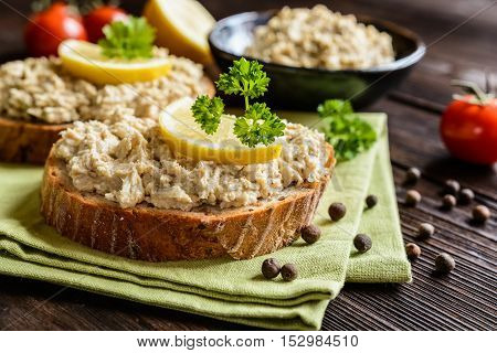 Mackerel Spread With Onion And Herbs