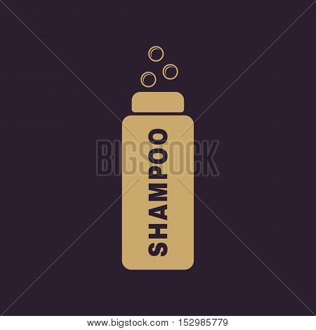 The shampoo icon. Washing symbol. Flat Vector illustration