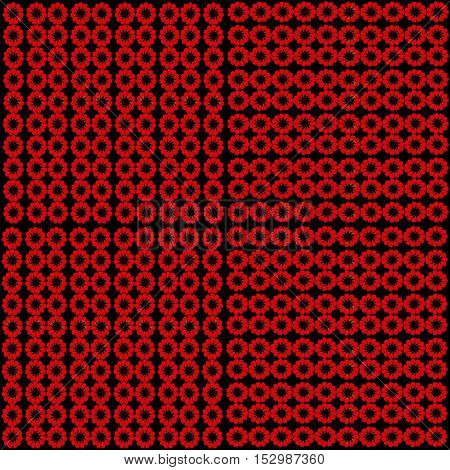 Vintage Seamless Vector pattern. Vector Black Red Seamless Pattern. Vintage Pattern. Retro Background.