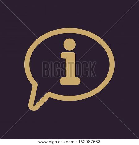 The information icon. Info and faq symbol. Flat Vector illustration