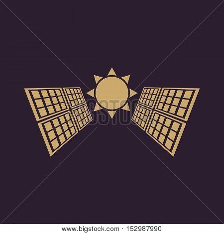 The solar panel icon. Green energy symbol. Flat Vector illustration