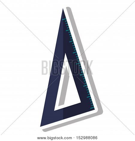 Ruler icon. School education supply and object theme. Isolated design. Vector illustration