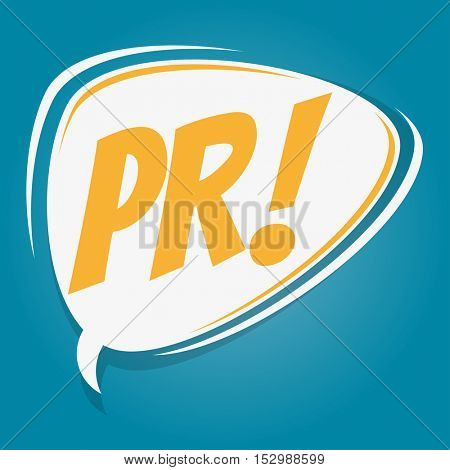 pr retro speech balloon