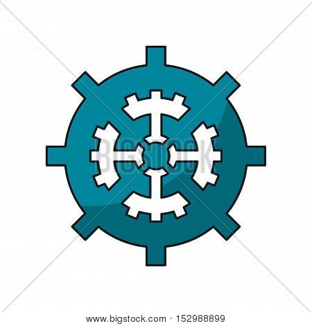 Gear icon. Machine part cog and circle theme. Isolated design. Vector illustration