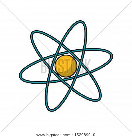 Atom icon. Science chemistry and nuclear theme. Isolated design. Vector illustration