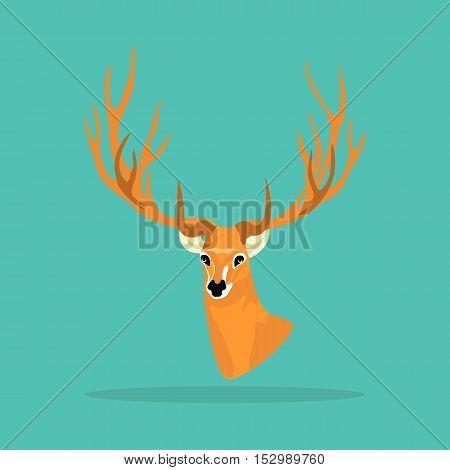 Deer antler icon on white background. Deer antler