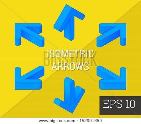 Arrows Isometric Vector Illustration