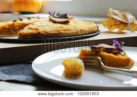 American Pie With Pumpkin And Mascarpone