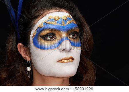 Headshot Of Women With Mask