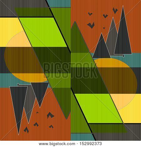 Bright abstract illustration print background  element  art