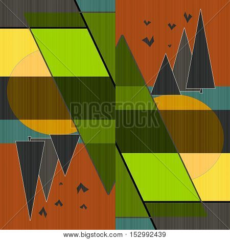 Bright abstract illustration print background decoration  element