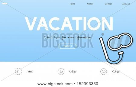 Holiday Travel Destination Vacation Icon Concept