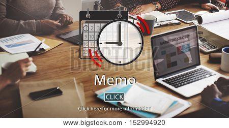Memo Appointment Organizer Plan Reminder Concept
