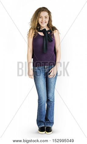 Young Woman Smiling Cheerful Concept