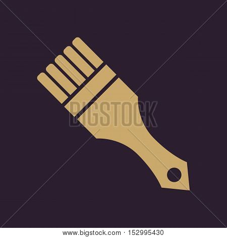 The paint brush icon. Painting and renovation, repair, coloring symbol. Flat Vector illustration