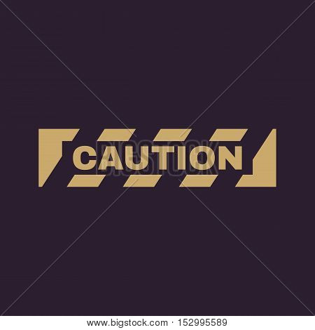 The caution icon. Danger and hazard, attention symbol. Flat Vector illustration