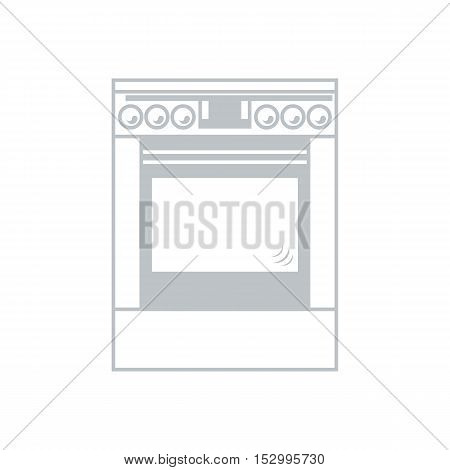 Stylized Icon Of A Colored Cooker On A White Background