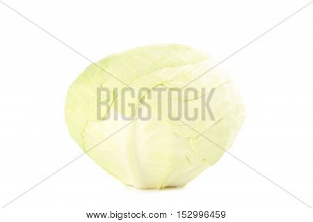 Ripe Cabbage Isolated On A White Background