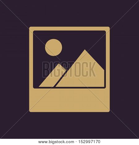The photo icon. Picture and image, photogallery symbol. Flat Vector illustration
